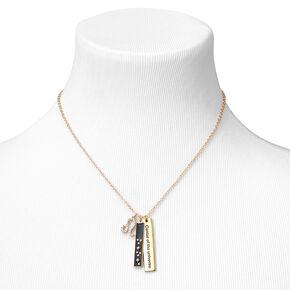 Collier à pendentif zodiaque rectangulaire couleur dorée - Lion,