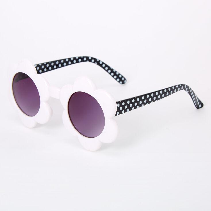 Claire's Club Daisy Sunglasses - White,