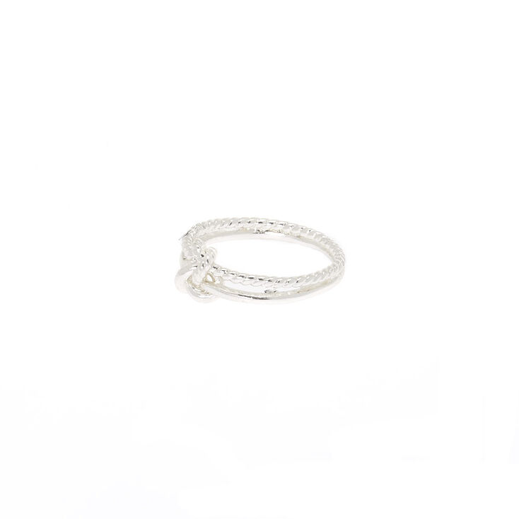Silver Knotted Ring,