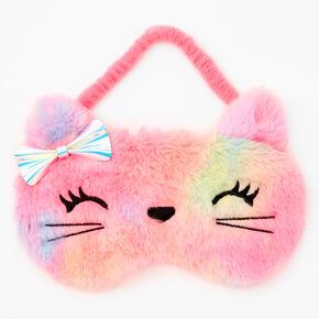 Tie-Dye Kitty Sleeping Mask - Rainbow,