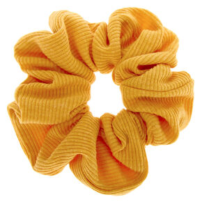 Medium Ribbed Hair Scrunchie - Mustard,