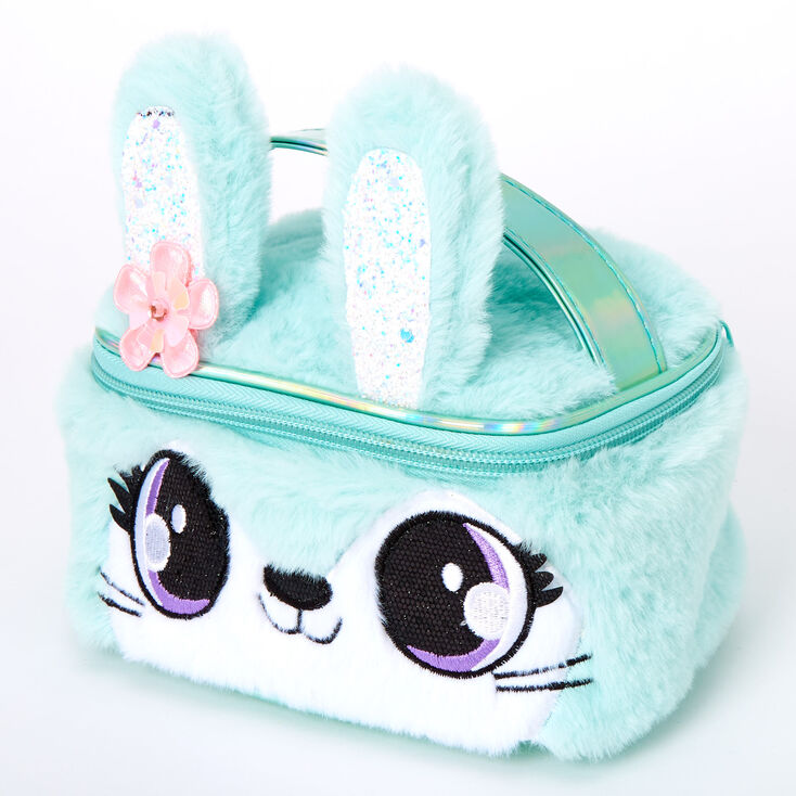 Claire's Club Jade the Bunny Makeup Bag - Teal,