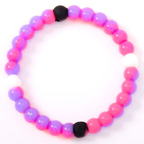 Purple & Pink Fortune Stretch Bracelet,