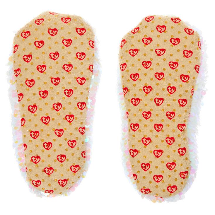TY flippables Sequin Unicorn-Diamond Slippers 30//18,1CM Gift Bag