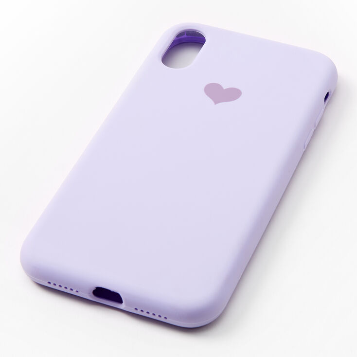 Lavender Heart Protective Phone Case - Fits iPhone XR,