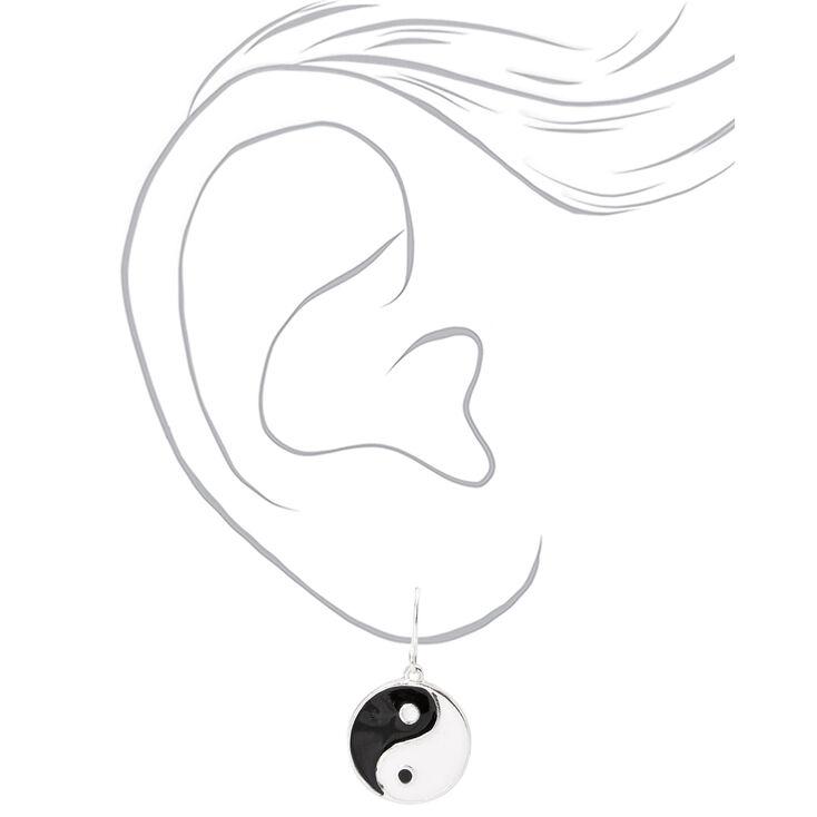 """Yin Yang 0.5"""" Drop Earrings,"""