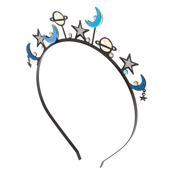 Claire's - holographic galaxy crown headband - 1