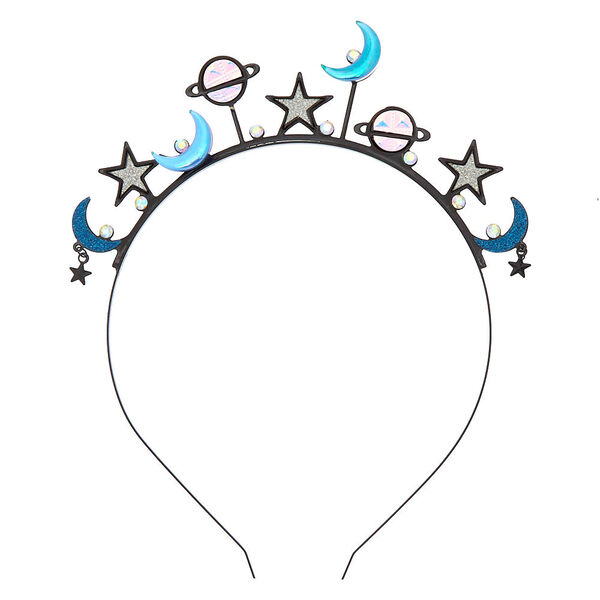 Claire's - holographic galaxy crown headband - 2