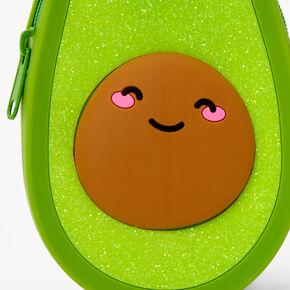 Glitter Avocado Pencil Case - Green,
