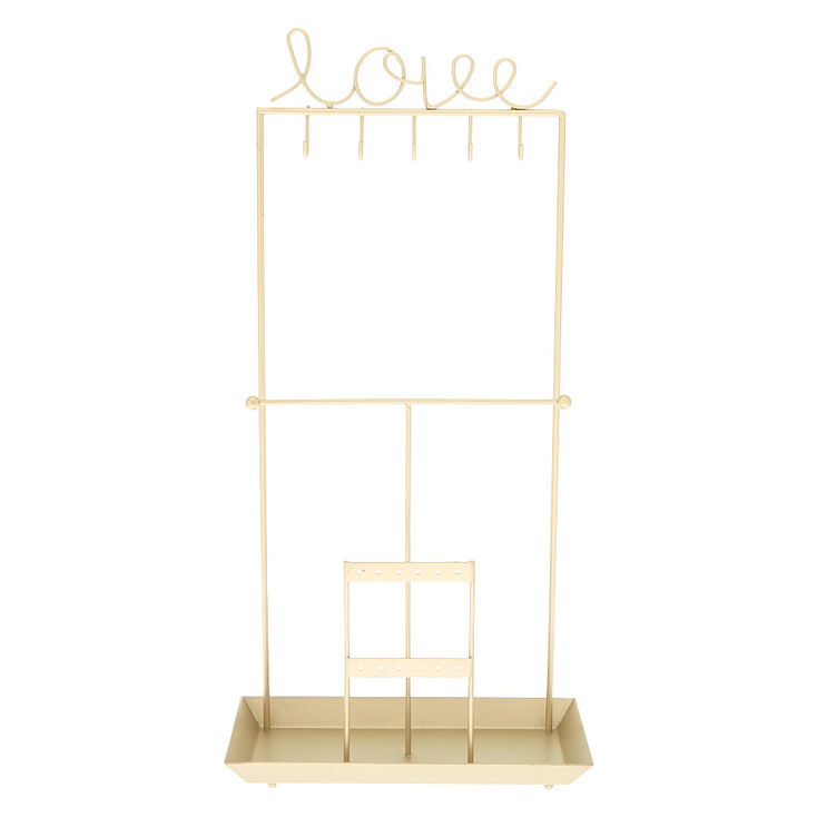 Presentoir Vertical Pour Bijoux Love Couleur Doree Claire S Fr