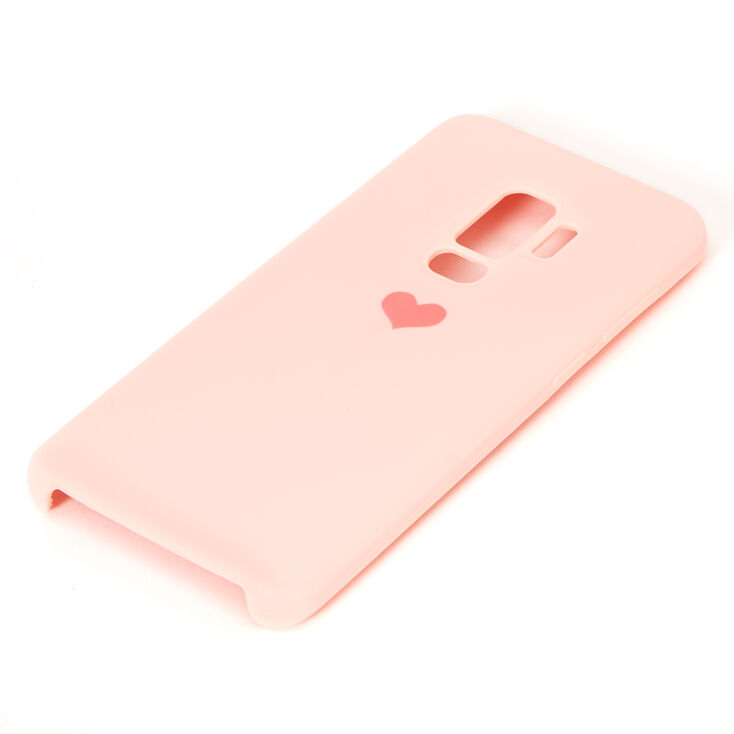 Pink Heart Phone Case - Fits Samsung Galaxy S9 Plus,