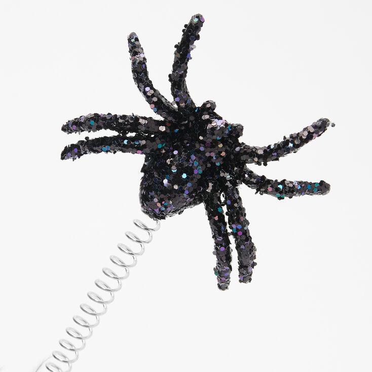 Spider Glitter Deely Bopper Headband - Black,