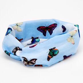 Butterfly Twisted Headwrap - Blue,