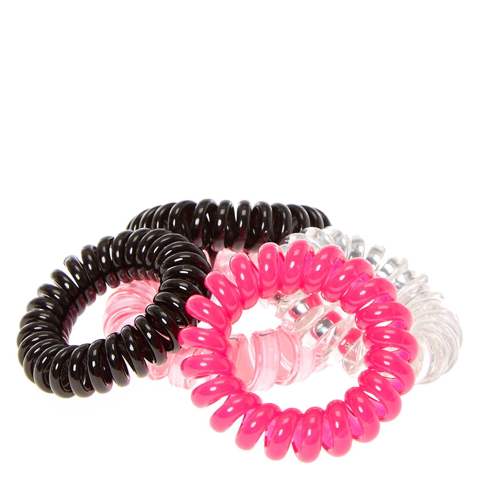... Black  amp  Pink Mini Coiled Hair Ties 2caa3fd9675