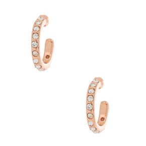 18kt Rose Gold Plated Half Hoop Earrings,