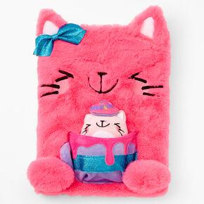 Hot Pink Kitty Plush Sketchbook Set - 2 Pack,