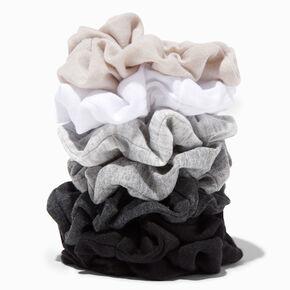 Small Neutral Hair Scrunchies - 7 Pack,