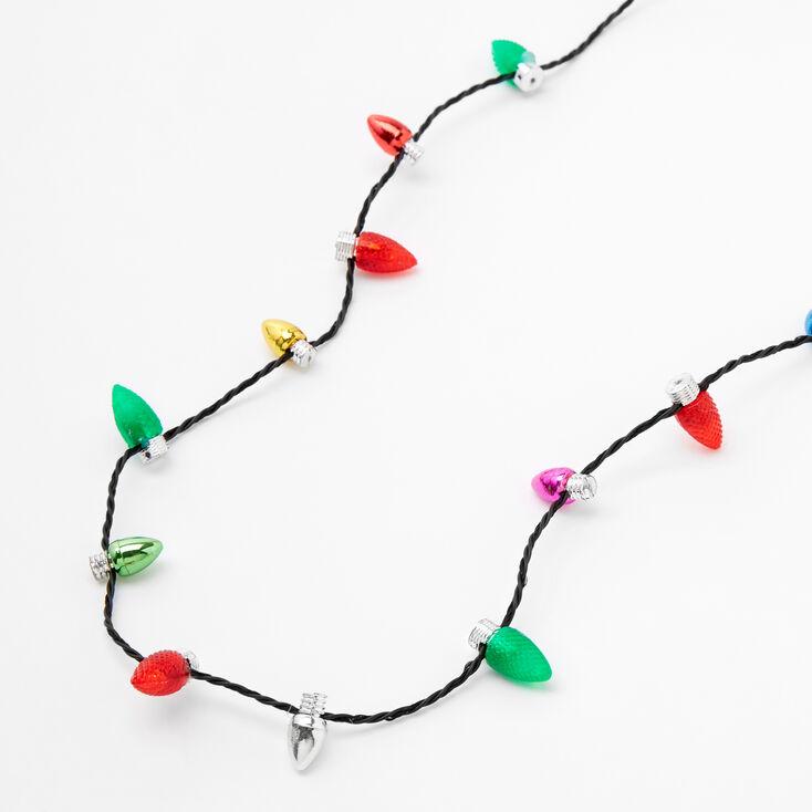 Light Up Bulb Christmas Necklace,
