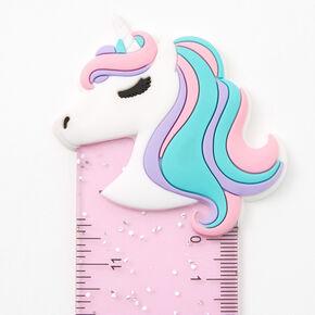 Glitter Ombre Unicorn Ruler - Purple,