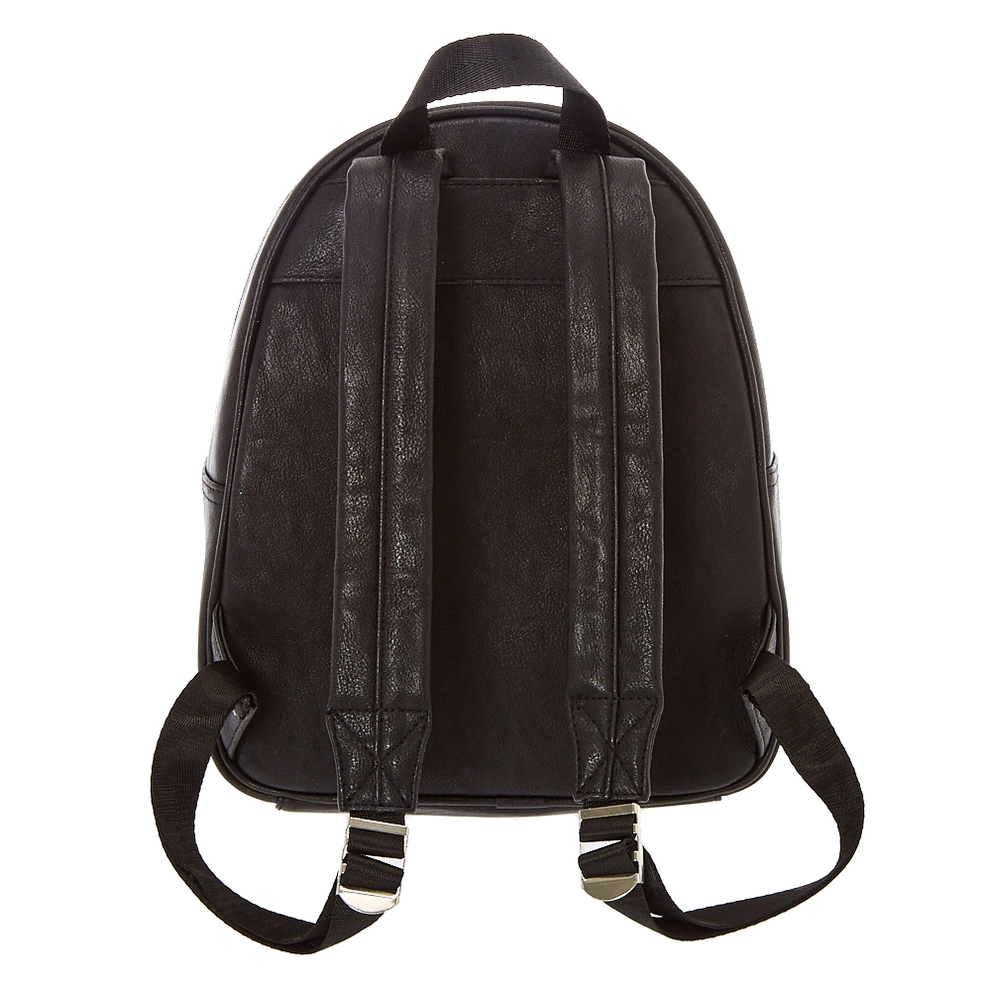 045f0591e Faux Leather Quilted Midi Backpack - Black