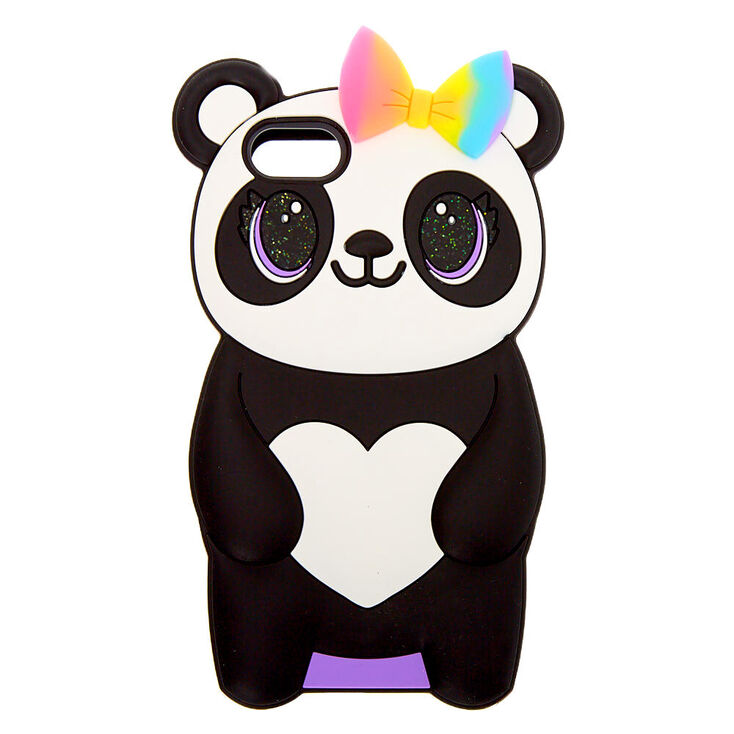 Pretty Panda Silicone Phone Case - Fits iPhone 6/7/8/SE,