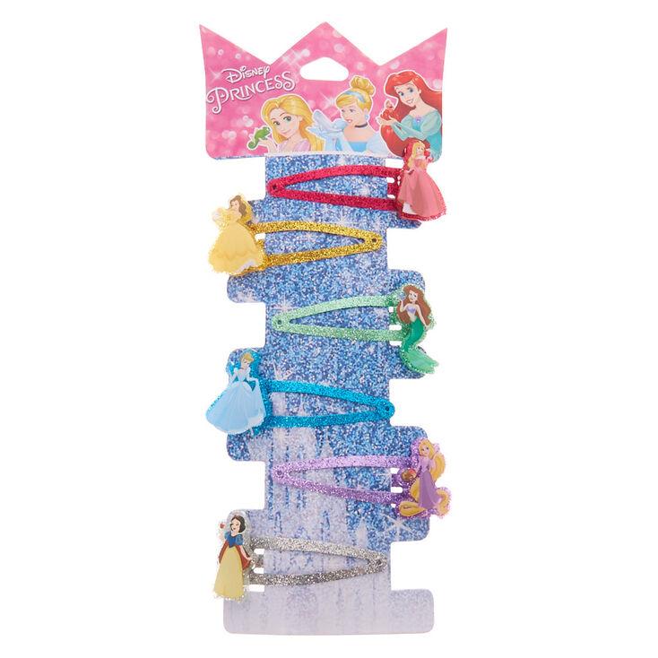 ®Disney Princess Glitter Snap Hair Clips – 6 Pack,