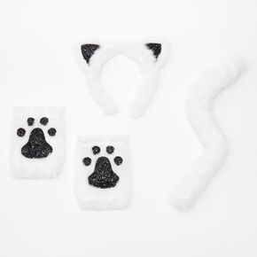 Plush Cat Costume Kit - White, 3 Pack,