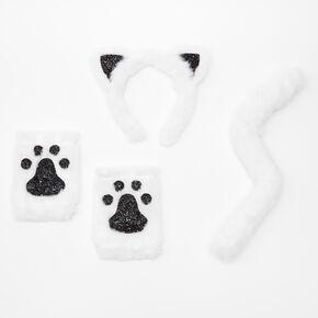 Déguisement de chat en peluche - Blanc, lot de 3,