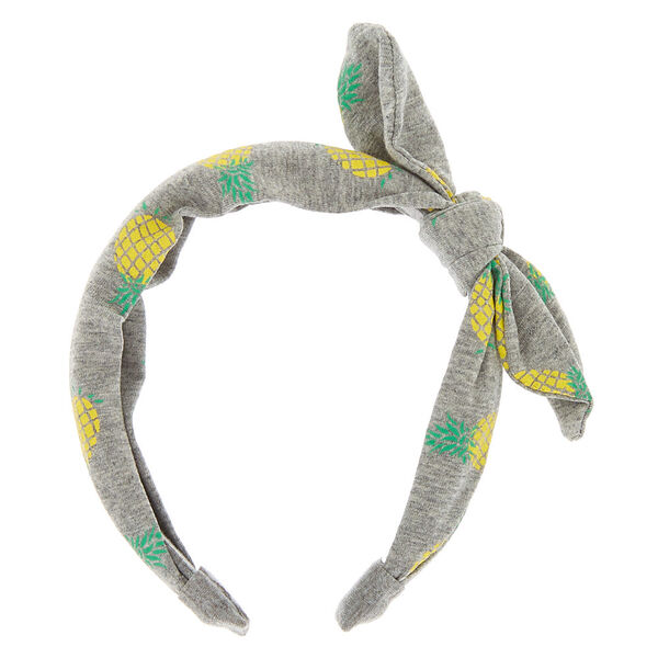 Claire's - pineapple knotted bow headband - 2
