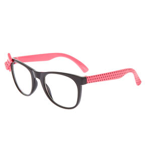 01b793cefa Claire s Club Polka Dot Bow Frames - Pink