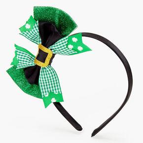 Leprechaun Glitter Bow Headband,