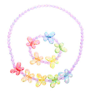 Claire's Club Rainbow Butterfly Jewelry Set - 2 Pack,