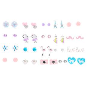 Pretty Animal Stud Earrings - 20 Pack,