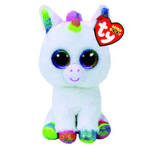 Ty Beanie Boo Medium Pixy The Unicorn Soft Toy,
