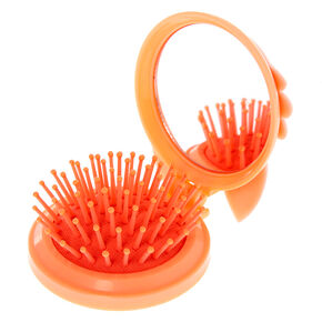 Queenie the Corgi Pop Up Hair Brush - Peach,
