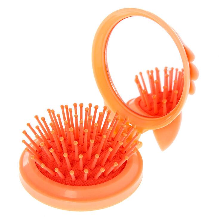 Queenie the Corgi Pop Up Hair Brush - Peach,