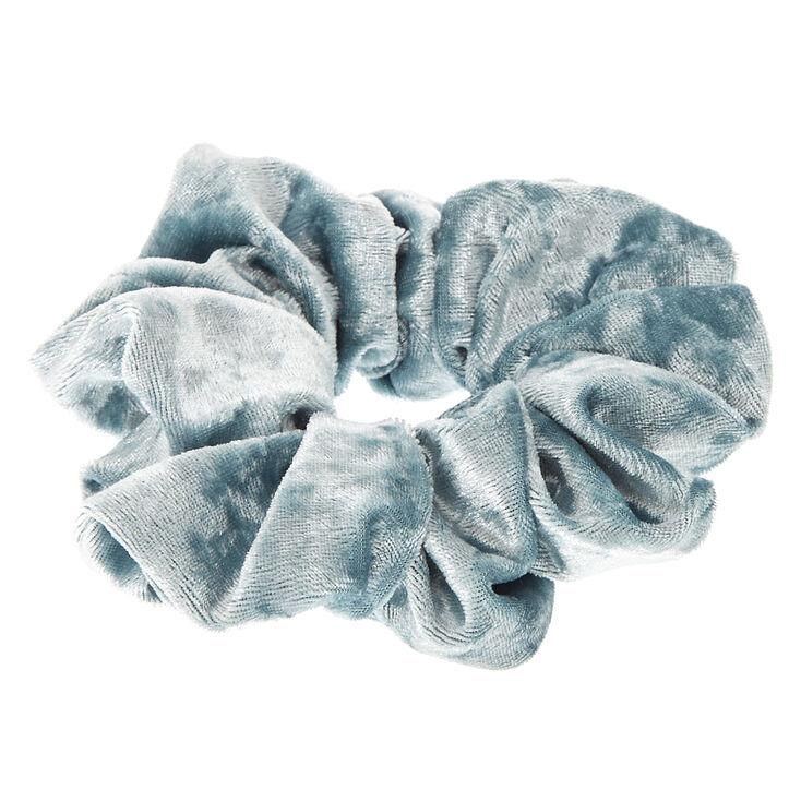 Medium Velvet Hair Scrunchie - Mint Blue,