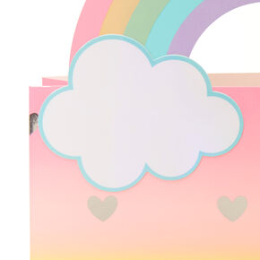 Medium 3D Rainbow Hearts Gift Bag,