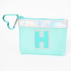 Porte-monnaie à initiale bleue - H,