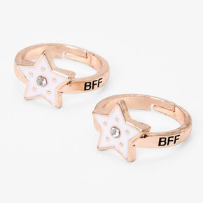 Best Friends Rose Gold Star Rings - 2 Pack,