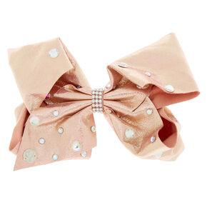 f2923bc2110 JoJo Siwa™ Large Rock and Rose Gold Hair Bow - Pink
