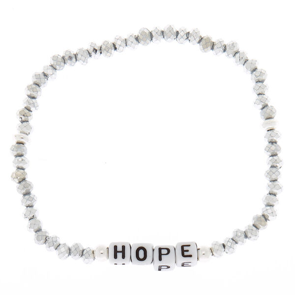 Claire's - hope beaded stretch bracelet - 1
