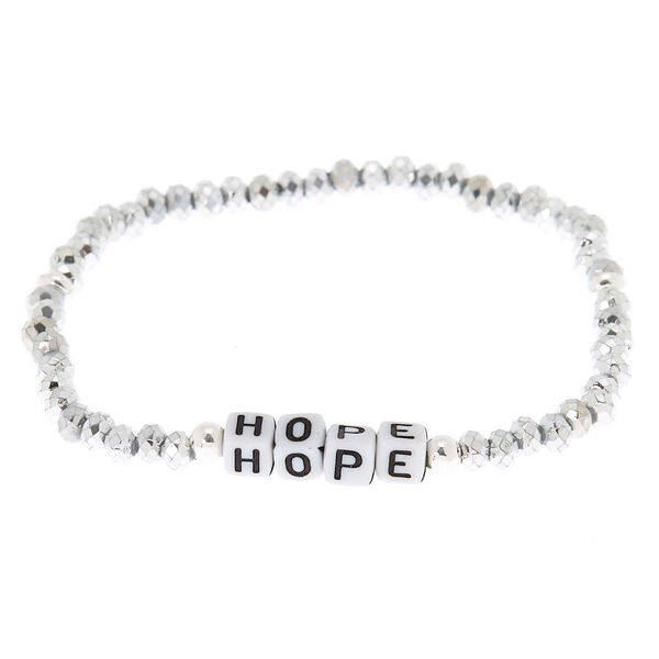 Claire's - hope beaded stretch bracelet - 2
