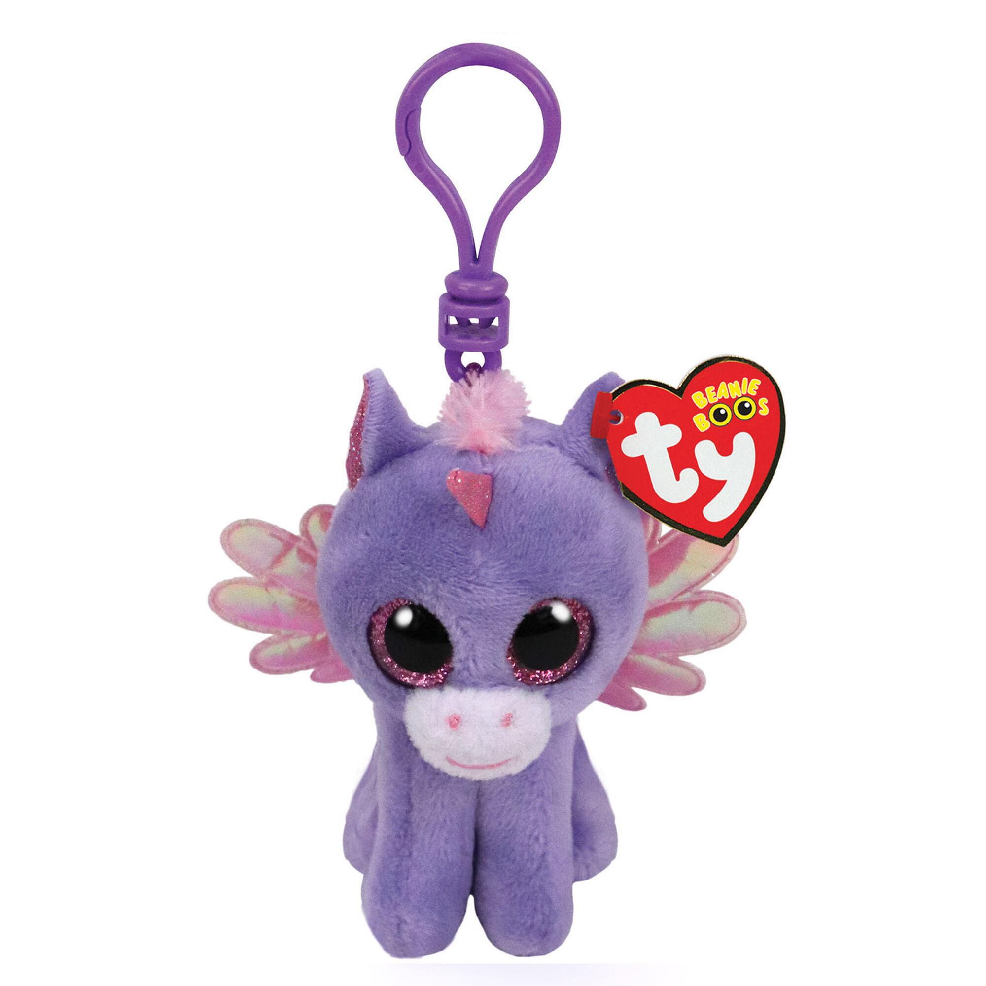 Ty Beanie Boo Athena the Pegasus Keyring Clip  9fa70c78cec