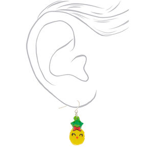 "1"" Penelope the Pineapple Squish Drop Earrings - Yellow,"