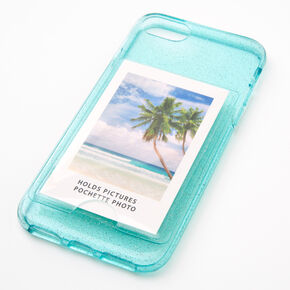 Mint Glitter Instax Mini Pocket Protective Phone Case - Fits iPhone 6/7/8/SE,