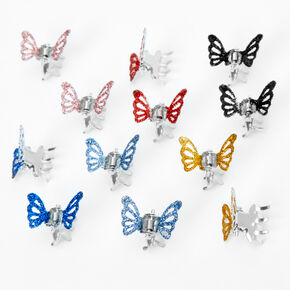 Glitter Butterfly Mini Hair Claws - 12 Pack,