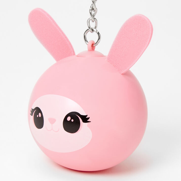 Porte-clés balle anti-stress lapin - Rose,