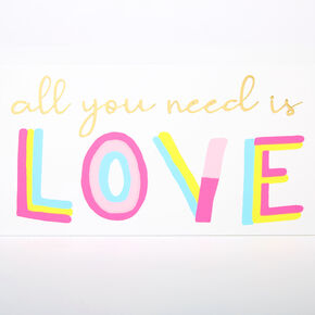 All You Need Is Love Word Block - White,