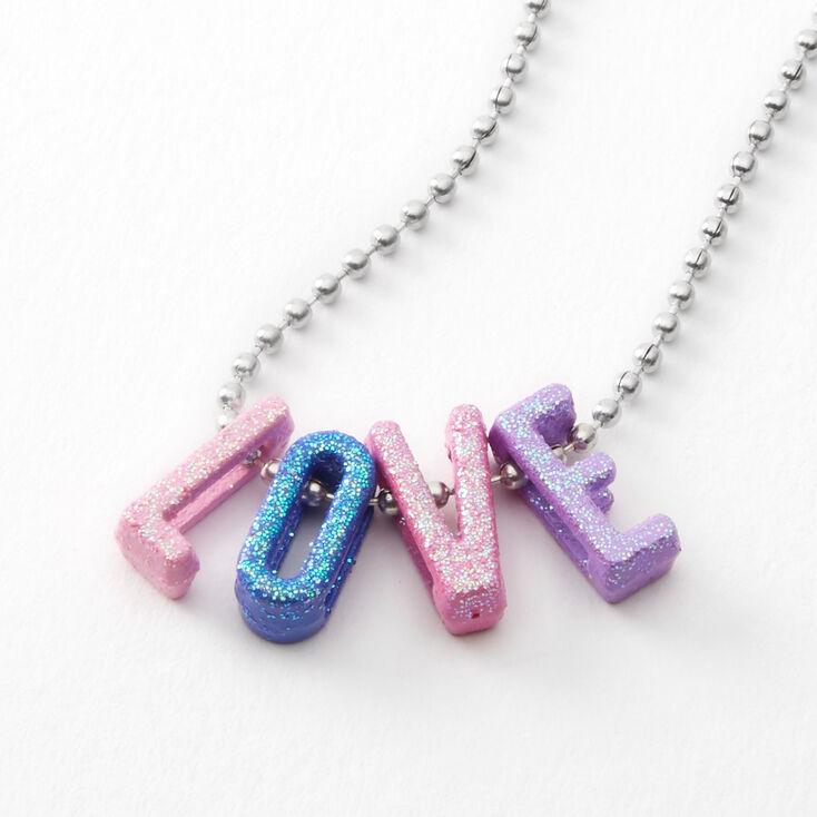 Love Rainbow Pendant Necklace,